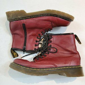 Doc Dr Martens Red Delaney Boots US Size Kids 2